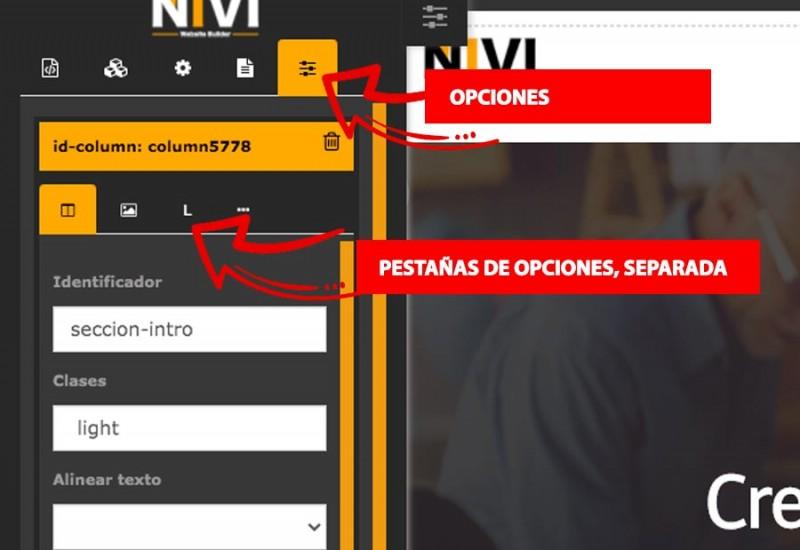 Primeros pasos : interfaz editor niviweb