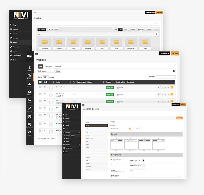 Constructor intuitivo de sitios web