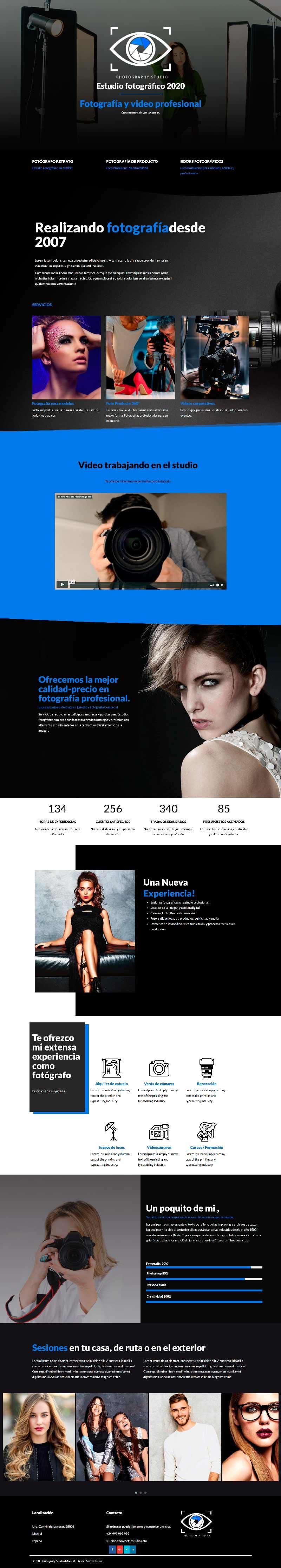 Plantilla web para fotógrafo Wordpress