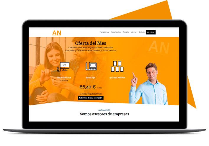 Cliente ahorro para tu negocio diseño página web con nivi