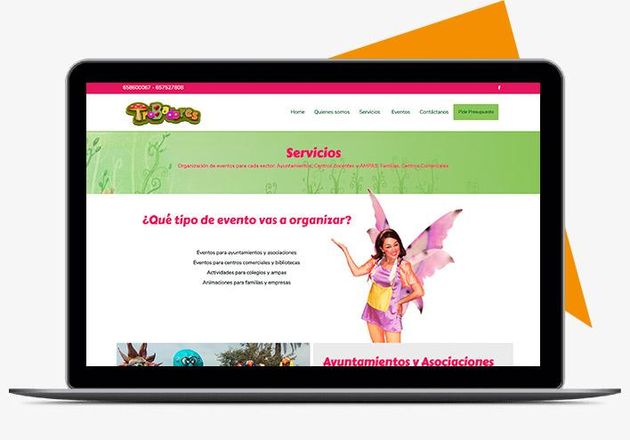 Animaciones trobadores diseño página web con niviweb