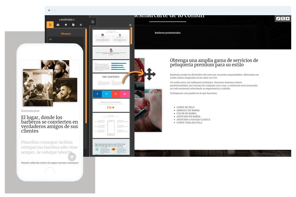 Nivi web Website builder Editor web constructor de páginas web