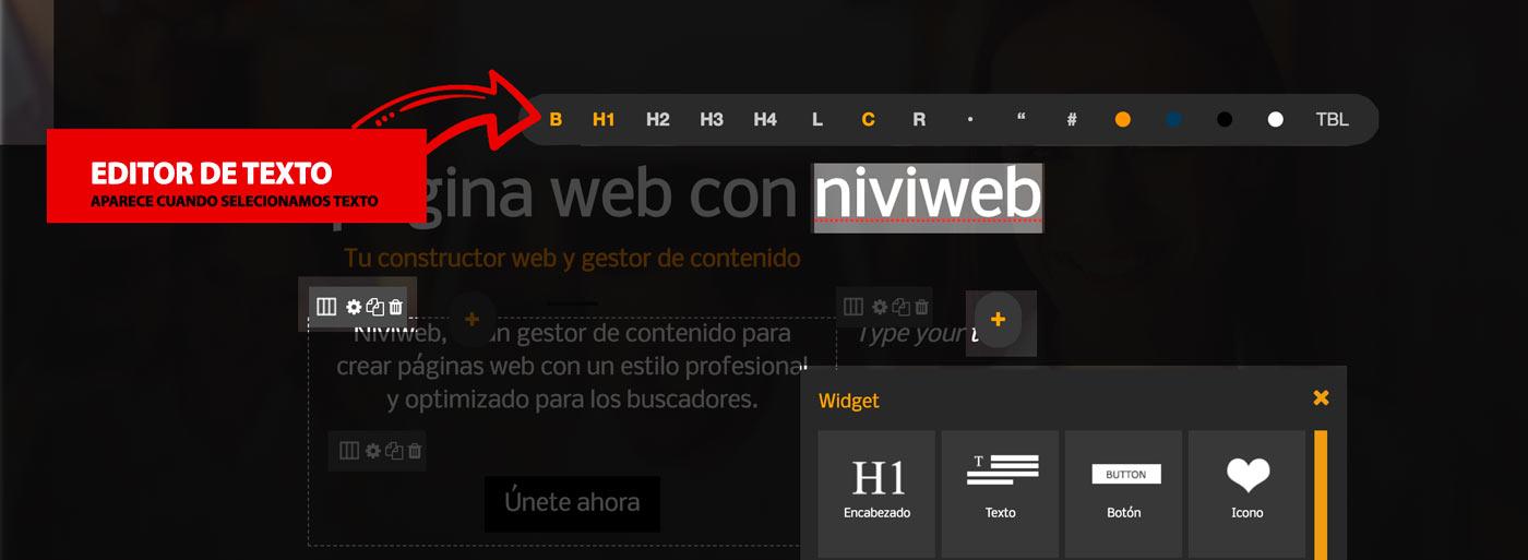 editor de texto online creando página web online
