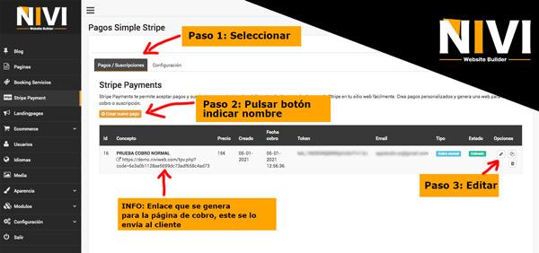 cómo crear un formulario para cobrar a un cliente