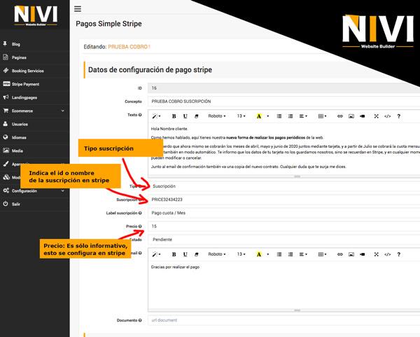 Creando suscripción formulario para cliente o usuario