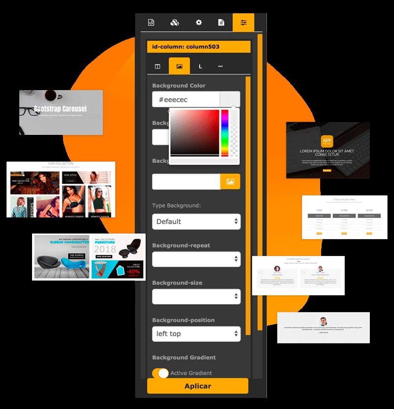 Diseño web con drag and drop Niviweb CMS